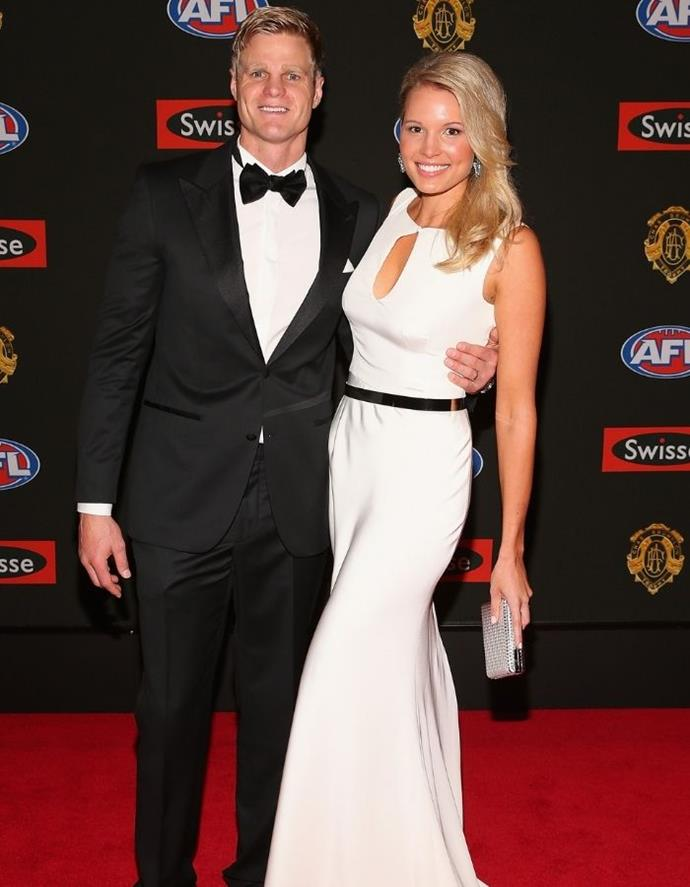 The loved-up couple attending the 2013 Brownlow.