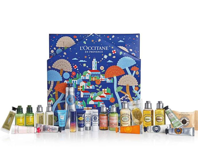 """[**L'Occitane**](https://au.loccitane.com/?ranMID=39095&ranEAID=2116208&ranSiteID=TnL5HPStwNw-EWyGiv5vfEgMB_5aD8VstQ target=""""_blank"""")  <br><br> L'Occitane has two amazing advent calendars on offer this year, with an affordable and more premium options.  <br><br> For $99, discover try-it sizes of signature favorites like Almond Shower Oil and Immortelle Overnight Reset Oil-in-Serum, plus a bundle of their best-selling hand creams including Shea Butter. <br><br> Or splurge a little with L'Occitane's $183 bundle and experience pampering at the highest level with a mix of full-sized lip treats, award-winning skincare, best-selling body care, and a few surprises along the way."""