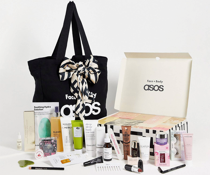 """[**ASOS**](https://www.asos.com/au/beauty-extras/asos-face-body-24-day-advent-calendar-74-saving/prd/24515527?browseCurrency=AUD&browseCountry=AU&affid=26502&_cclid=Google_CjwKCAjw7--KBhAMEiwAxfpkWM3FBe9fikQJCaM84prDA4bYj9EQ3IbxemAVvdMwpKO5JoewieQIYhoCvesQAvD_BwE&channelref=product+search&mk=abc&ppcadref=12374925799%7c115839508697%7cpla-293946777986&gclid=CjwKCAjw7--KBhAMEiwAxfpkWM3FBe9fikQJCaM84prDA4bYj9EQ3IbxemAVvdMwpKO5JoewieQIYhoCvesQAvD_BwE&gclsrc=aw.ds target=""""_blank"""") <br><br> ASOS' versatile beauty advent calendar is packed with everything you could need to prepare your skin and body for the warmer months. <br><br> For just $150, the ASOS Face + Body 24 Day Advent Calendar comes with minis of two of the most popular beauty products in the world right now - Charlotte Tilbury's Magic Cream and Estee Lauder Advanced Night Repair Serum. <br><br> Also included is Iconic London Mini Warm and Blushing Eyeshadow Palette, Olaplex No.3 Hair Perfector and the Urban Decay All Nighter Primer. <br><br> But we'll leave the rest of the amazing products as a surprise for you when it arrives in the mail!"""