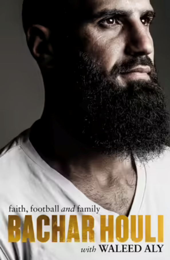 """**Bachar Houli: Faith, Football and Family by Bachar Houli and Waleed Aly** <br><br> Australia's most high-profile Muslim AFL player Bachar Houli has shared his experiences and success as a footballer. Within a sport that famously lacks diversity, he has spearheaded meaningful conversations for community inclusion and tolerance, which have changed the institution for the better. <br><br> Pick up a copy [here.](https://go.skimresources.com?id=105419X1569321&xs=1&url=https%3A%2F%2Fwww.booktopia.com.au%2Fbachar-houli-bachar-houli%2Fbook%2F9780143796411.html%3Fsource%3Dpla%26gclid%3DCjwKCAjw7--KBhAMEiwAxfpkWOs1LzmAujyP9upscgjoFXURGtKU9dxcVDIkebqIkFvt_FPBj0J9QxoCuiYQAvD_BwE target=""""_blank"""")"""
