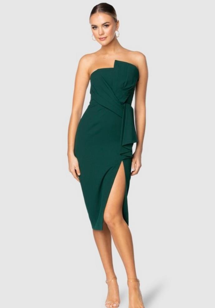 "Pilgrim Dublin Midi Dress, $189.95, [The Iconic.](https://go.skimresources.com?id=105419X1569321&xs=1&url=https%3A%2F%2Fwww.theiconic.com.au%2Fdublin-midi-dress-1371651.html target=""_blank"")"