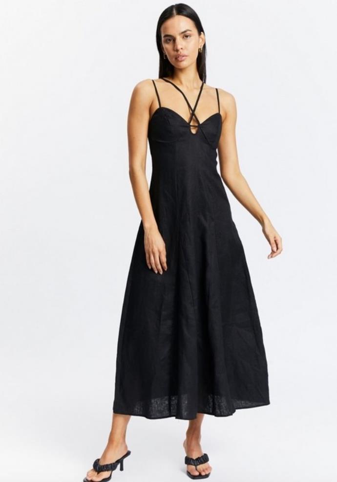 "Aere Strappy Maxi Dress, $170.00, [The Iconic.](https://go.skimresources.com?id=105419X1569321&xs=1&url=https%3A%2F%2Fwww.theiconic.com.au%2Fstrappy-linen-maxi-dress-1327179.html target=""_blank"")"