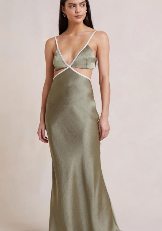 "Veronique Maxi Dress, $330.00, [Bec & Bridge.](https://www.becandbridge.com.au/collections/guests/products/veronique-maxi-dress-sage target=""_blank"")"