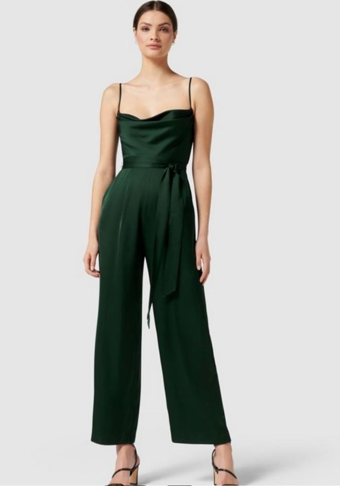 """Forever New Eden Satins Cowl Jumpsuit, $169.99, *[The Iconic.](https://go.skimresources.com?id=105419X1569321&xs=1&url=https%3A%2F%2Fwww.theiconic.com.au%2Feden-satin-cowl-jumpsuit-1361250.html target=""""_blank"""")*"""