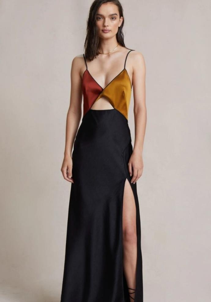 "Lazer Midi Dress, $380.00, [Bec & Bridge.](https://www.becandbridge.com.au/collections/guests/products/lazar-midi-dress-black target=""_blank"")"