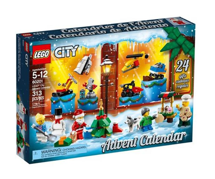 """[**LEGO City**](https://www.catch.com.au/product/city-advent-calendar-2018-60201-3298082/?utm_source=affiliates&utm_medium=referral&utm_campaign=6040&cfclick=ca48fb44652a4d19b4eb09a557195314