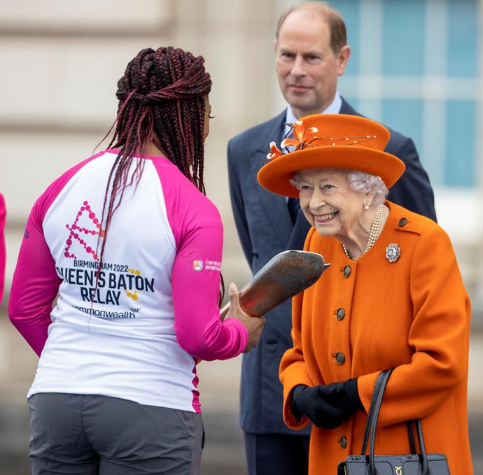 The Queen chats with Paralympian and gold medallist Kadeena Cox.