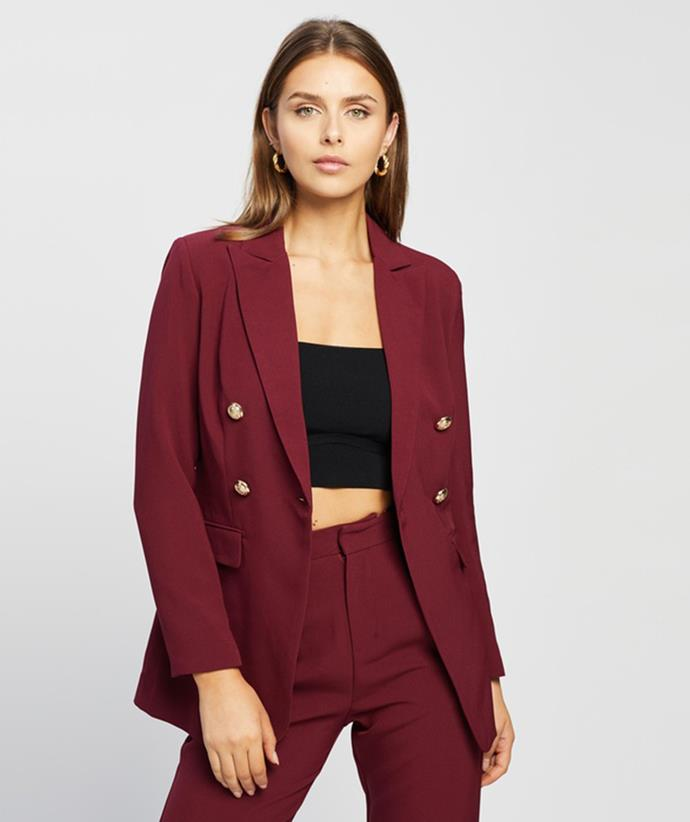 """[Atmos&Here Gigi Blazer, $99.99, from The Iconic.](https://fave.co/3BpgGr4 target=""""_blank"""" rel=""""nofollow"""")"""