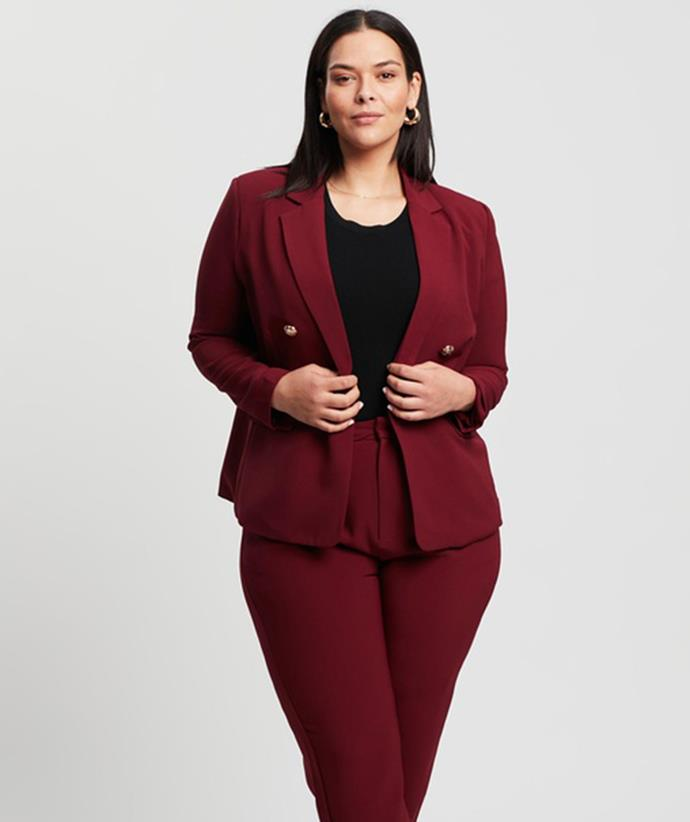 """[Atmos&Here Curvy Gigi Blazer, $50, from The Iconic.](https://fave.co/3ak5ccO target=""""_blank"""" rel=""""nofollow"""")"""