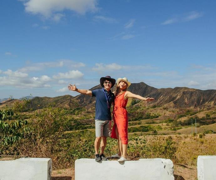 The couple love to travel together and post pictures from their trips.