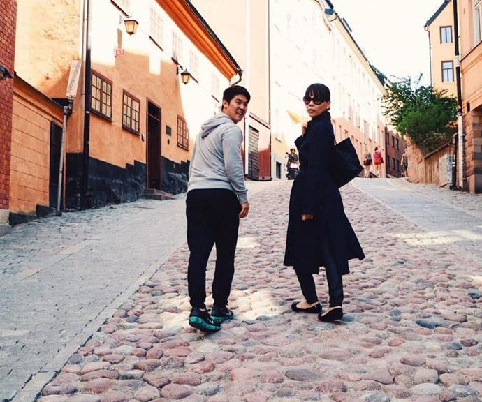 """During Dami's trip to Sweden when she represented Australia at Eurovision 2016, her husband posted this cobblestone picture. """"Having a great time before her second Eurovision rehearsal! You are so beautiful :) @damiim,"""" he captioned it."""