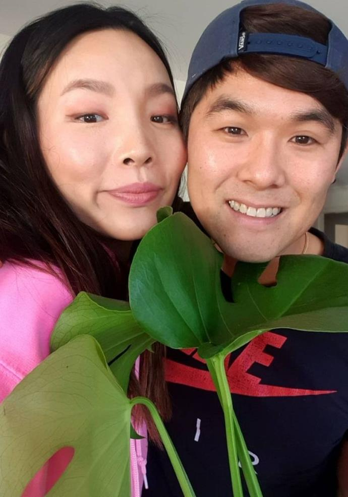 """Dami penned an ode to her marriage, and the plant pictured served as a metaphor for their growth.  <br><br> """"He got me a living plant instead of flowers because it means we're growing together always...aww (..but I love flowers even if they don't grow☻) Anyways I love being married to you. I never knew how funny you were before we were married but everyday is so funny and I love that we get to laugh for the rest of our lives 💚💚💚 @nkim_,"""" she shared."""