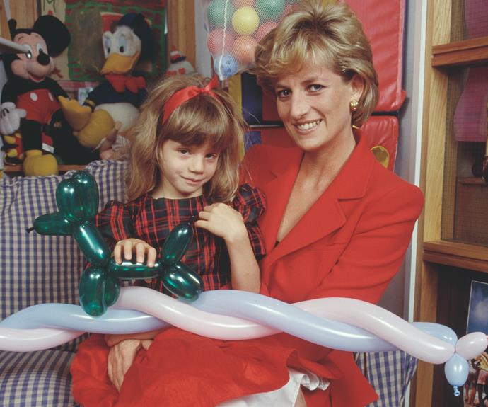 Princess Diana had a special bond with children, like this young girl with HIV/AIDs.