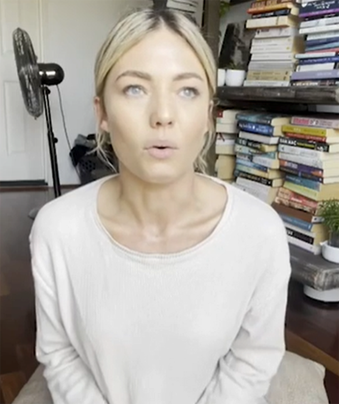 Sam Frost appeared in a now deleted video about the COVID-19 vaccine.