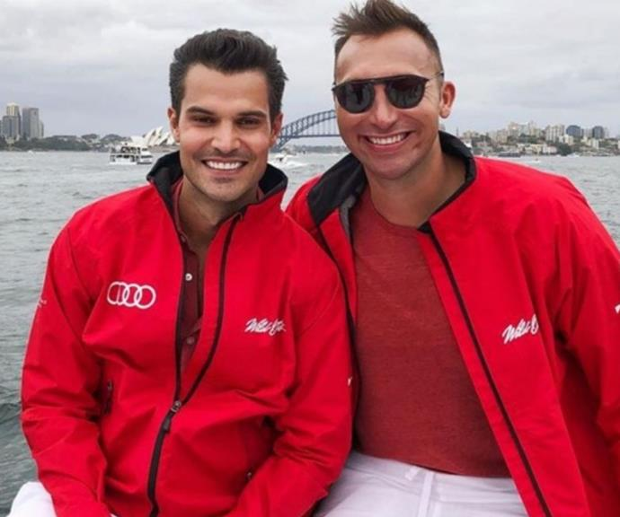 The former couple pictured enjoying a day out in Sydney together.