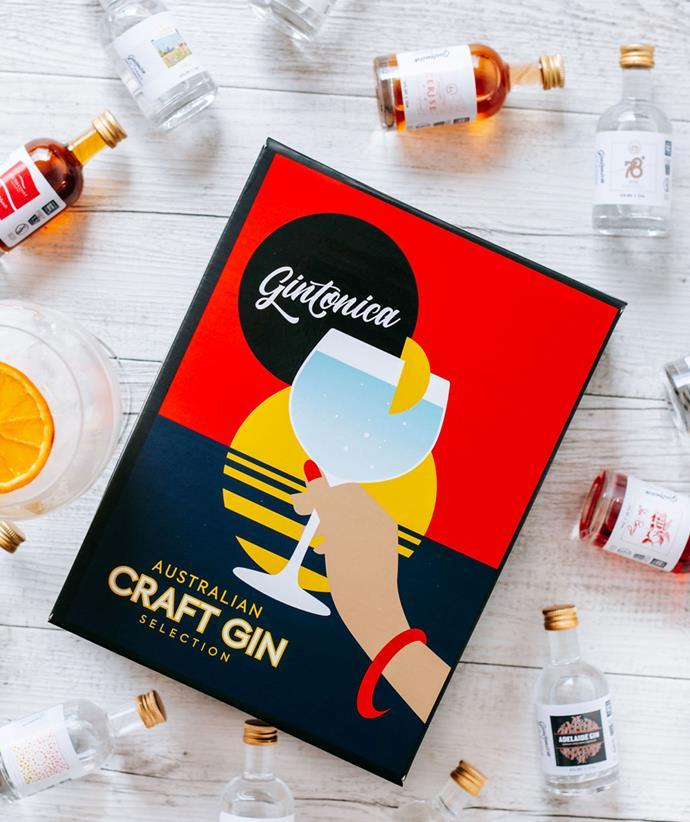 "**[12 Australian Gin Tasting Pack, $129, Gintonica](https://www.gintonica.com.au/12-australian-gin-pack/|target=""_blank""|rel=""nofollow"")**"