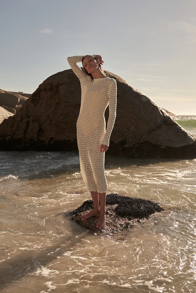 A chic cover-up is great if you're not comfortable in a swimsuit.