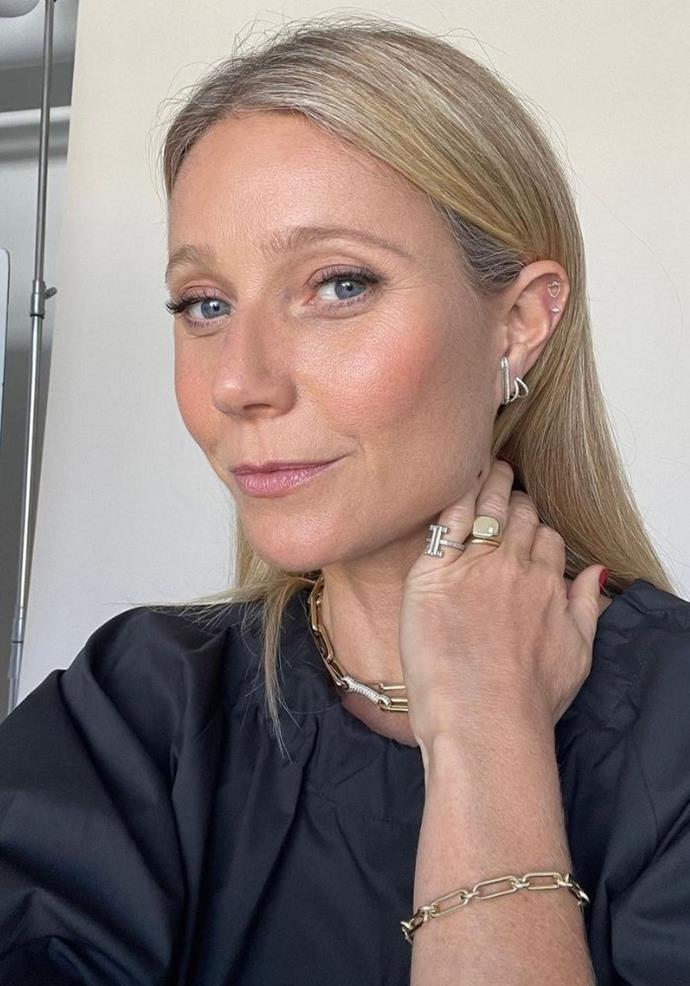 Rosehip oil is a part of Gwyneth's skincare routine.