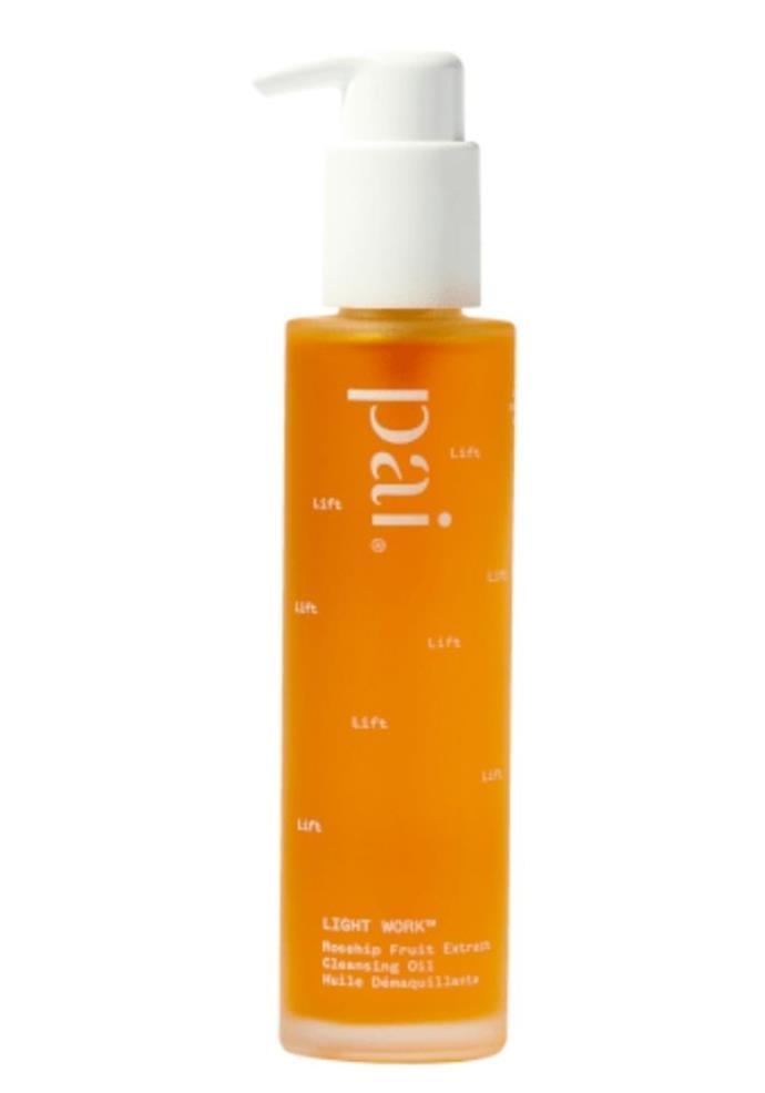 "Pai Light Work Rosehip Cleansing Oil, $68.00, [Adore Beauty.](https://go.skimresources.com?id=105419X1569321&xs=1&url=https%3A%2F%2Fwww.adorebeauty.com.au%2Fpai-organic-skincare%2Fpai-light-work-rosehip-cleansing-oil-145ml.html target=""_blank"")"