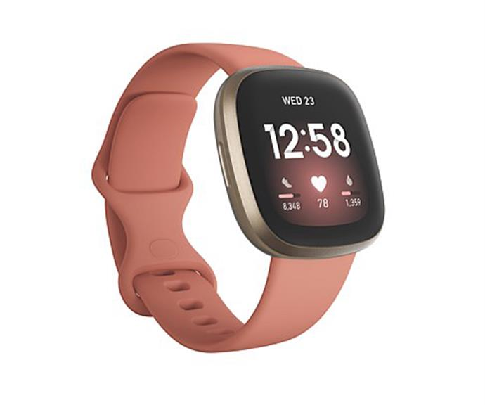 """[**Fitbit**](https://www.davidjones.com/gifts/gift-ideas/gifts-for-her/23722911/Fitbit-Versa-3.html target=""""_blank"""") <br><br> Due to their hefty price tag, people often aren't forking out the money to buy themselves a Fitbit. <br><br> But if you really want to spoil your workout-obsessed loved one this Christmas, we guarantee a Fitbit Versa 3 will keep you in their good books for years to come. <br><br> The handy gadget lets users keep on top of their goals wherever life takes them. The motivating health and fitness watch tunes in to your body with tools for stress management, heart health, sleep quality and more."""