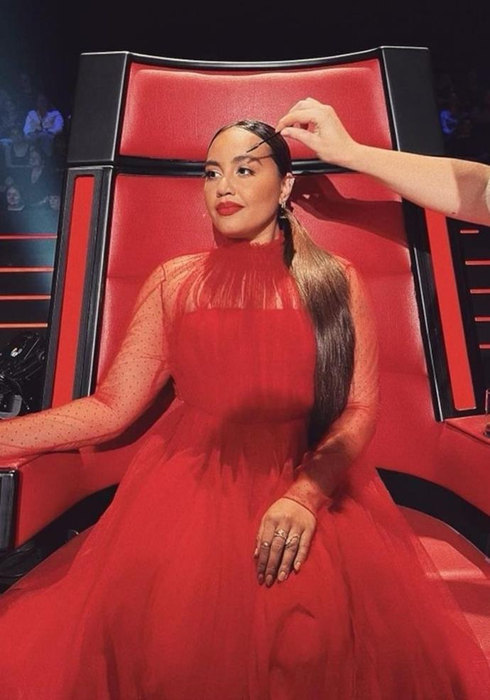 Jess was known for singing in the red chair at random moments.