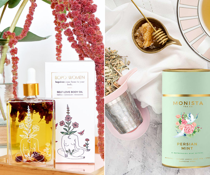 """**[LVLY Loves gift sets](https://fave.co/3zPHno1 target=""""_blank"""" rel=""""nofollow"""")** <br> You may know LVLY for their lush bouquets, but the brand now also offers cute gift packs like this [Self Love Body Oil ($35)](https://fave.co/3oTojTv target=""""_blank"""" rel=""""nofollow"""") and [tea set ($50)](https://fave.co/30nnBnh target=""""_blank"""" rel=""""nofollow""""). Pair them with a bunch of your favourite blooms and send them for Christmas. <br><br> ***[Shop the LVLY Loves gift sets, starting at $20, from LVLY.](https://fave.co/3zPHno1 target=""""_blank"""" rel=""""nofollow"""")***"""