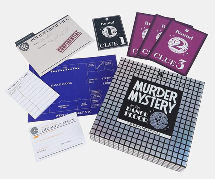 """**[Murder Mystery game](https://fave.co/3mH7Kao target=""""_blank"""" rel=""""nofollow"""")** <br> This is the perfect gift for someone who always wants to crack out the board games at Christmas. Pick up the """"Murder Mystery On The Dance Floor"""" game to host your own adventure with family and friends. <br><br> ***[Shop the Talking Tables Host Your Own Murder Mystery On The Dance Floor game, $99.95, from The Iconic.](https://fave.co/3mH7Kao target=""""_blank"""" rel=""""nofollow"""")***"""