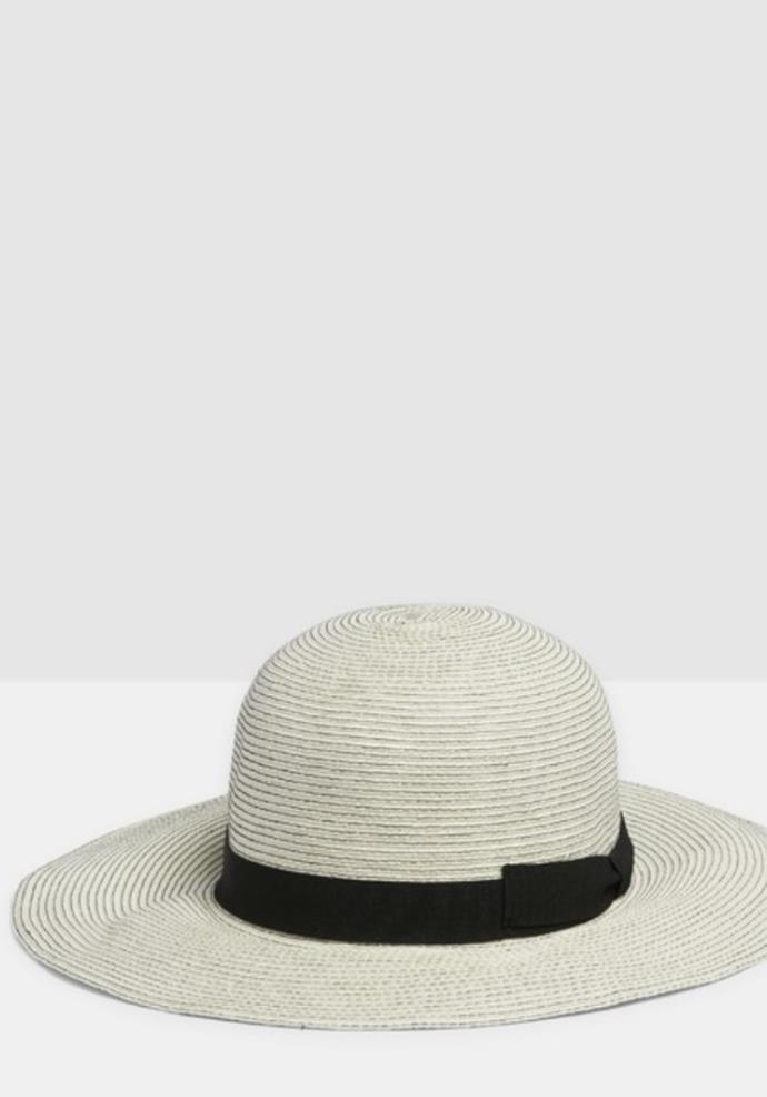 """Kate & Confusion Positano Floppy Hat, $83.95, [The Iconic.](https://go.skimresources.com?id=105419X1569321&xs=1&url=https%3A%2F%2Fwww.theiconic.com.au%2Fpositano-floppy-hat-978791.html
