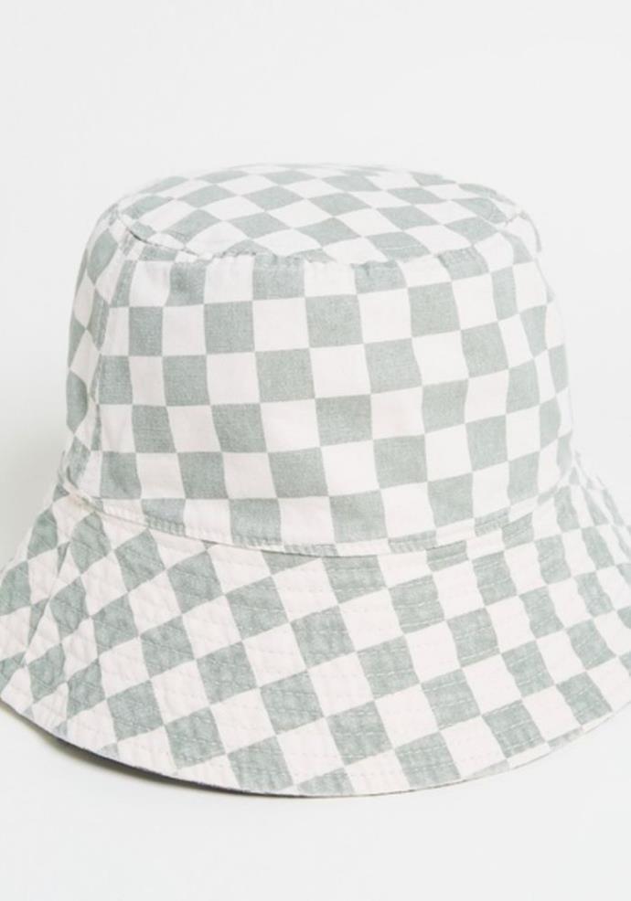 "Thrills Aalto Bucket hat, $49.99, [The Iconic.](https://go.skimresources.com?id=105419X1569321&xs=1&url=https%3A%2F%2Fwww.theiconic.com.au%2Faalto-bucket-hat-1294673.html|target=""_blank"")"