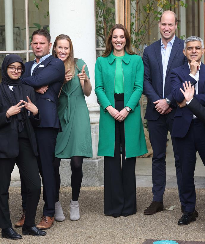 Duchess Catherine and Prince William attended the event at Kew Gardens in west London.