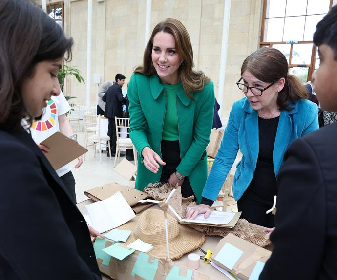 William and Catherine helped the students generate more than 120 ideas to help the environment.