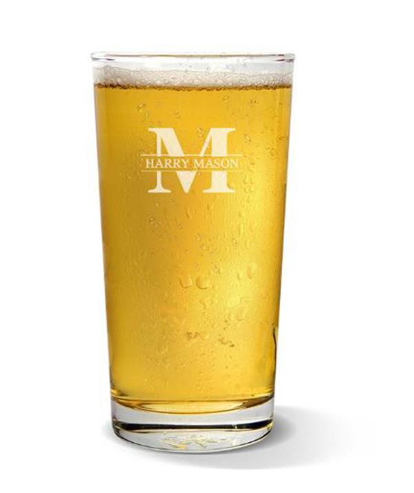 """**Personalised beer pint** <br><br> If there's one guarantee with men, it's that they enjoy sinking a few beers. So why not make their brew-drinking experience just that little bit more enjoyable with a personalised schooner?  <br><br> And at under $15, the initial monogrammed pint glass by Fabness is the perfect stocking filler (or present depending on how many you want to buy!) <br><br> You can choose from a selection of designs so the special man in your life can love every sip. <br><br> Initial Monogram Pint Glass, $14.99, [Fabness](https://www.fabness.com.au/initial-monogram-pint-glass.html?utm_source=google_shopping&sncp=offer18&gclid=CjwKCAjwh5qLBhALEiwAioods0bj1OvMbtP26gcIWhSQVU_rfpcbeJ7hVm4uNjplNy6aPUXq-LKMNxoCamsQAvD_BwE