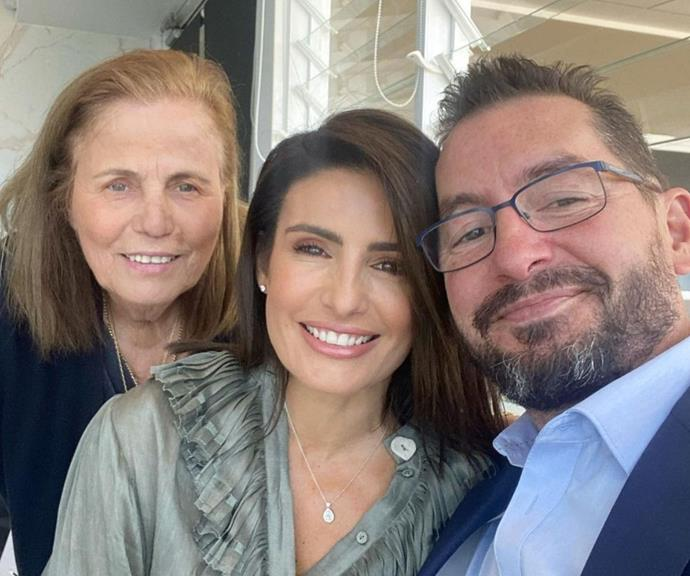 """Ada and her family finally reunited to celebrate Sydney's first weekend out of lockdown. <br><br> The *Home and Away* star shared many pictures from their lunch, featuring her goddaughter, mum, and partner.  <br><br> The Nicodemou clan looked overjoyed after spending months apart. <br><br> """"So nice to be out in a restaurant today with family ❤️,"""" the actor captioned the family snaps."""