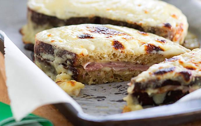 The bechamel sauce in a [croque monsieur](http://www.foodtolove.co.nz/recipes/croque-monsieur-20981) will hide any hint of staleness!