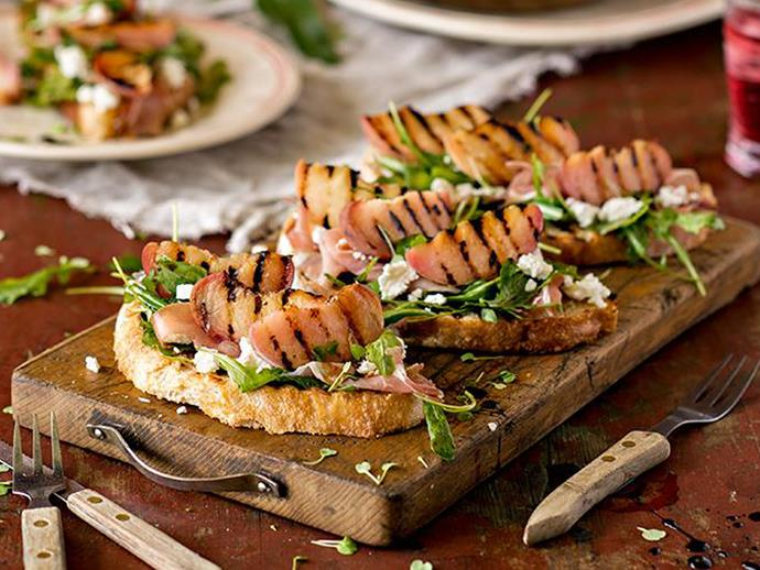 Grill or chargill bread and for delicious [bruschetta](http://www.foodtolove.co.nz/recipes/grilled-peach-and-prosciutto-bruschetta-18410).