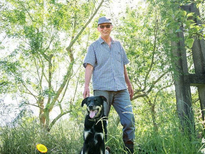 Peter Schmuck-Poschl with dog Cicek (Turkish for 'flower').