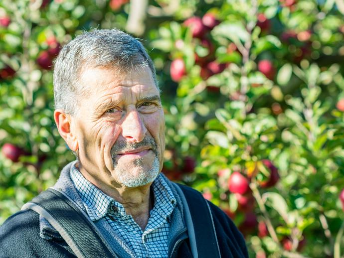 Milenko Boric, Frank and Zorka's son, helped plant the orchard in the 1960s.