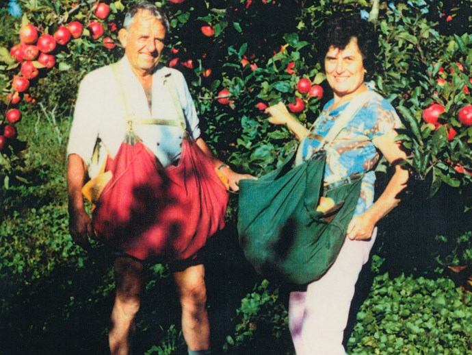 Frank and Zorka Boric founded the orchard.
