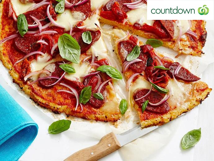 """Cauliflower is the key ingredient for making these [healthier pizza bases](http://www.foodtolove.co.nz/recipes/cheese-and-cauliflower-pizza-22361