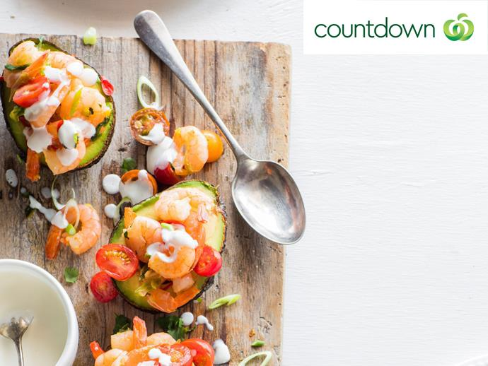 "For a dish that's deliciously practical, try using an [avocado as a serving bowl](http://www.foodtolove.co.nz/recipes/avocado-with-chilli-prawns-and-lime-mayonnaise-36604|target=""_blank"")."