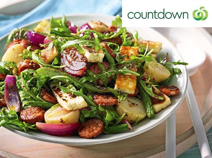 """[Chorizo, haloumi and potato salad](http://www.foodtolove.co.nz/recipes/chorizo-haloumi-and-potato-salad-21791 target=""""_blank"""" rel=""""nofollow"""")"""