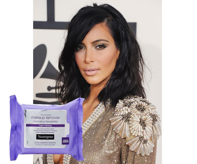 If Kim Kardashian  West swears by a certain make-up remover, you know that's a hard-working product. She's gone on the record numerous times over the years professing her love for Neutrogena Make-up Remover Cleansing Towelettes, $12.99.