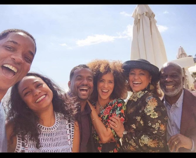 And when the cast reunited this week (minus Uncle Phil, who passed away in 2013) they looked pretty chuffed to be together again, 27 years on.