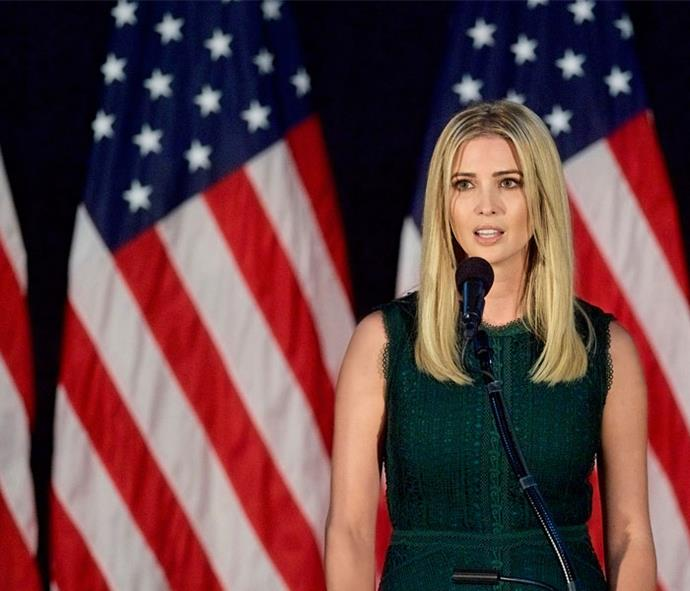 Ivanka introduces her father at an event during his presidential campaign in 2016.