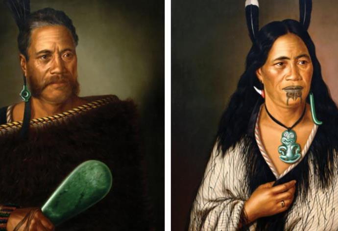 Chieftainess Ngatai - Raure and Chief Ngatai-Raure