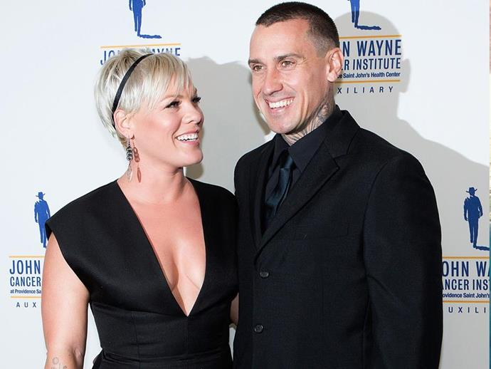 Pink and her husband Carey Hart, pictured in 2015