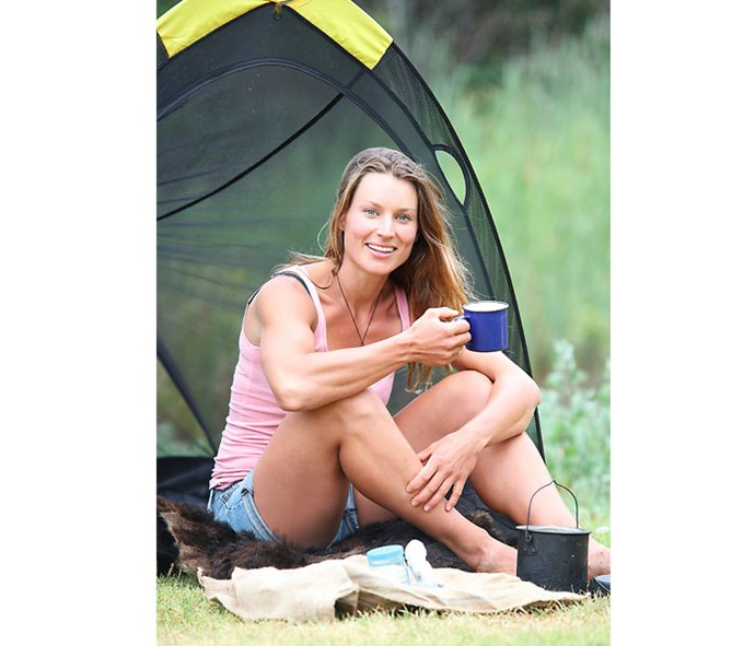Living a primitive life in the bush is Miriam's cup of tea