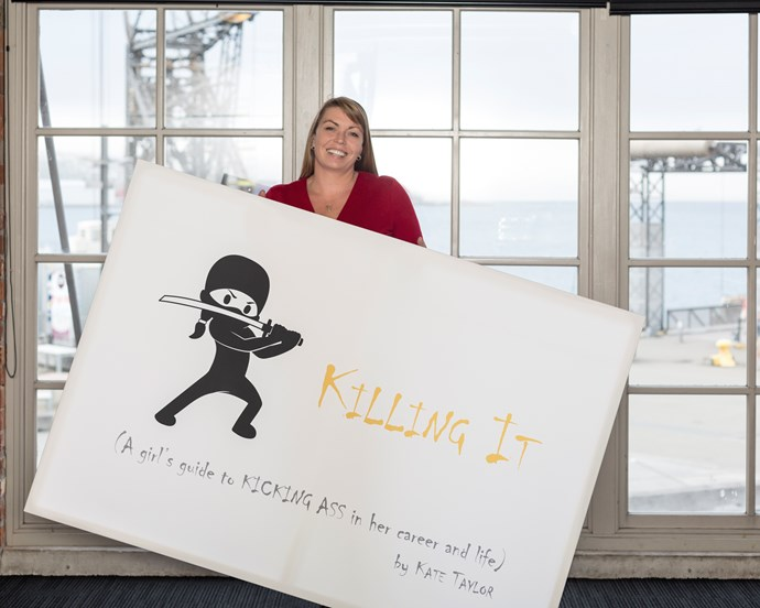 Kate Taylor at the launch of Killing It