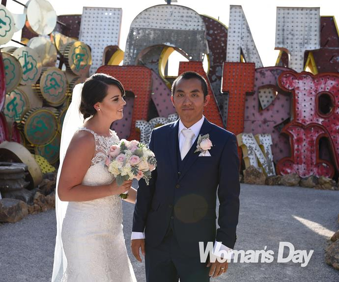 """""""It was definitely what we wanted,"""" says the bride of their OTT nuptials."""