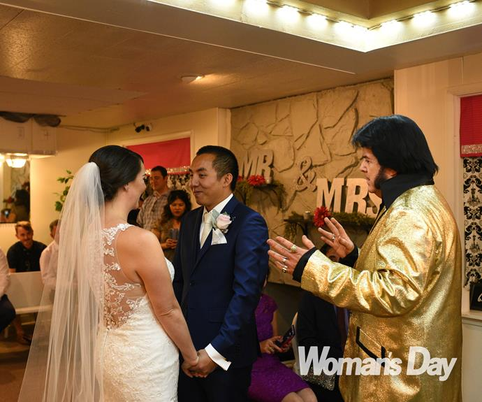 When radio star Chang Hung and his Irish love Victoria Duncan started planning their wedding, two things were certain – it had to be on St Patrick's Day, to mark two years since they started dating and honour the bride's heritage, and it had to happen in Las Vegas.